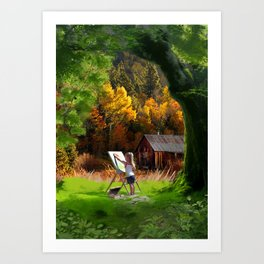 wonders of childhood Art Print