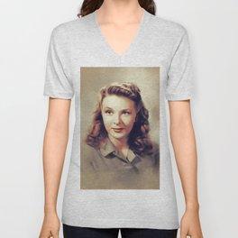 Evelyn Ankers, Vintage Actress Unisex V-Neck