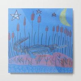 Night Swamp Metal Print