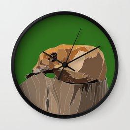 Precarious Snooze Low Poly Wall Clock