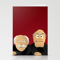 muppets Stationery Cards featuring Statler & Waldorf - Muppets Collection by Bryan Vogel
