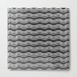 Black and White Graphic Metal Space Metal Print