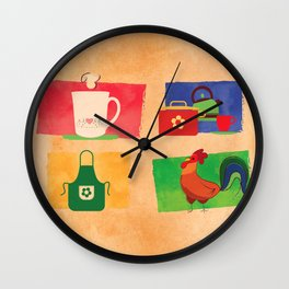 Kitchen poster Wall Clock