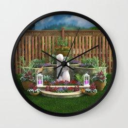 Tranquil Garden Wall Clock