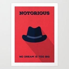 Notorious Minimalist Poster Art Print
