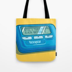 Text Hipster Tote Bag