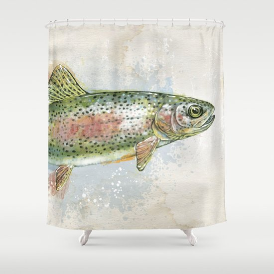 Splashing Rainbow Trout by ashleyverkampillustration