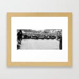 Crowd Shot from Backstage Framed Art Print