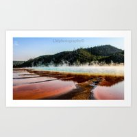 Grand Prismatic of Yellowstone Art Print
