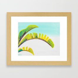 banana leaves Framed Art Print