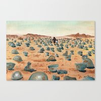 battlefield Canvas Prints featuring The Battlefield. by Jera Sky