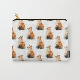 Red Fox Pattern Carry-All Pouch
