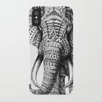 illustration iPhone & iPod Cases featuring Ornate Elephant by BIOWORKZ