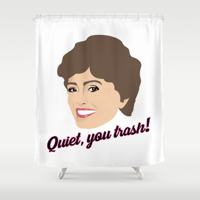 Golden Girls Blanche Devereaux Shower Curtain By Gregs Celeb Art