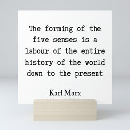 72   | Karl Marx Quotes | 190817 Mini Art Print