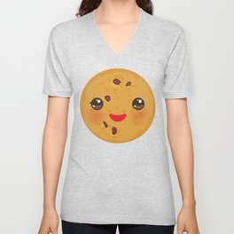 Kawaii Chocolate chip cookie Unisex V-Neck