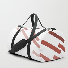 Modern Abstract Red and White #minimal #decor #design #kirovair #buyart Duffle Bag