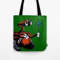 wall e Tote Bags featuring WALL-E by iankingart