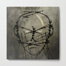 Prisoner of conscience. Metal Print