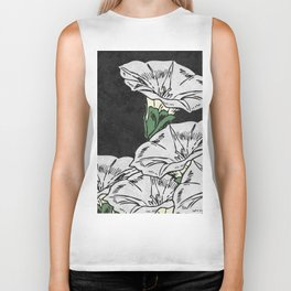 MARBLE FLOWERS (abstract) Biker Tank