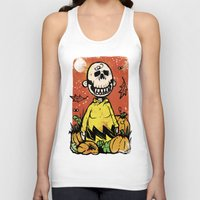 charlie brown Tank Tops featuring Charlie Brown - The Original Pumpkin King by Neil McKinney