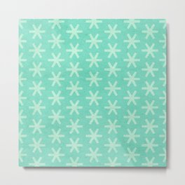 Asterisk Small - Turquoise Metal Print