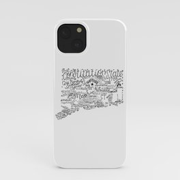 Connecticut - Hand Lettered Map iPhone Case