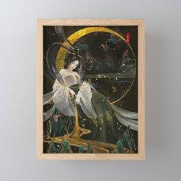 Japanese Geisha Beautiful Ornaments  Framed Mini Art Print