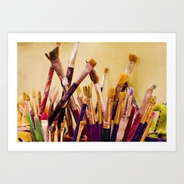 Paintbrushes Art Print