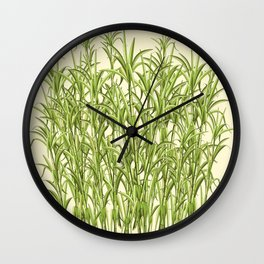 Sugar Cane Exotic Plant Pattern Wall Clock