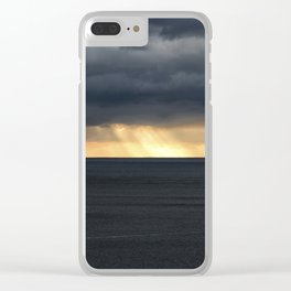 Langland Bay Sunset Clear iPhone Case