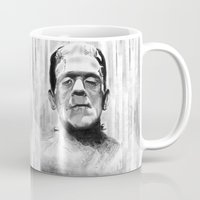 frankenstein Mugs featuring Frankenstein by Leyla Buk
