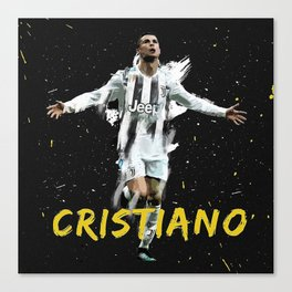 Cr7 juventus Canvas Print
