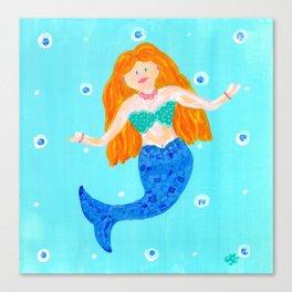 Whimsical Mermaid Art Canvas Print