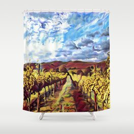 the land of escapes Shower Curtain