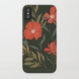 Red poppies meadow, Illustration Floral Print iPhone Case