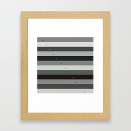 Pantone gray scale Framed Art Print