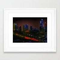 cityscape Framed Art Prints featuring Cityscape by Jonas Ericson