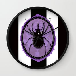Juicy Beetle PURPLE Wall Clock