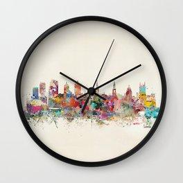 leeds united kingdom Wall Clock