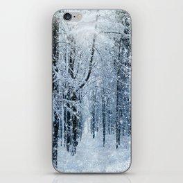 Winter wonderland scenery forest  iPhone Skin