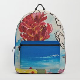 Alpinia purpurata – Red Ginger Flower Backpack