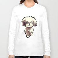 shih tzu Long Sleeve T-shirts featuring Alice (Shih Tzu) by BinaryGod.com