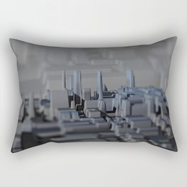Urban technology buildings space aerial view Rectangular Pillow