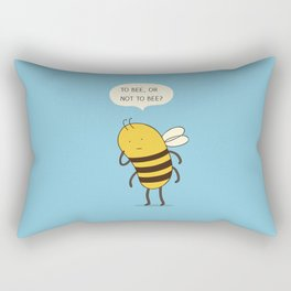 confused bee Rectangular Pillow