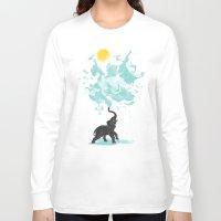 splash Long Sleeve T-shirts featuring summer splash by Steven Toang