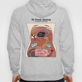 Female Anatomy Chart (According to Our Government) Hoody