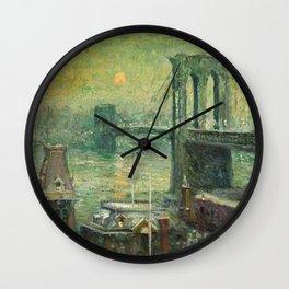 Ernest Lawson - Brooklyn Bridge Wall Clock