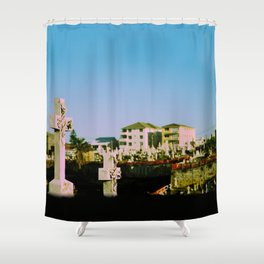 Suburban afterlife Shower Curtain