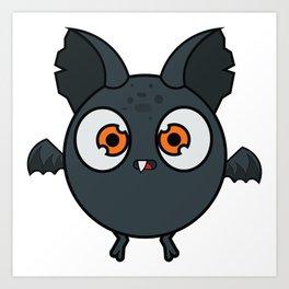 Dracula bat Art Print